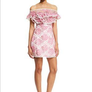 Alexis- Paula Floral Popover Mini Dress